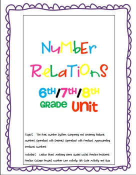 Rational and Irrational Numbers Activity Bundle
