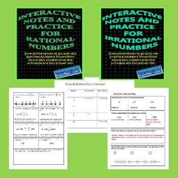 Rational and Irrational Numbers Bundle