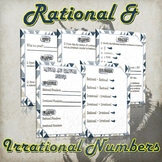 Rational and Irrational Numbers - (Guided Notes, Proofs and Practice)