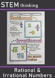 Rational and Irrational Numbers Middle and High School Math Doodle Notes