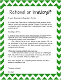Rational and Irrational Numbers Notes and Activity