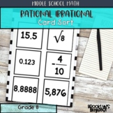 Rational and Irrational Numbers Sort and Order
