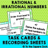 Rational and Irrational Numbers Task Cards