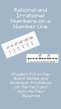 Rational and Irrational Numbers on a Number Line Notes