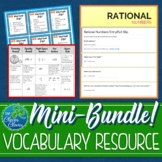 Rational and Irrational Numbers - Vocabulary Bundle