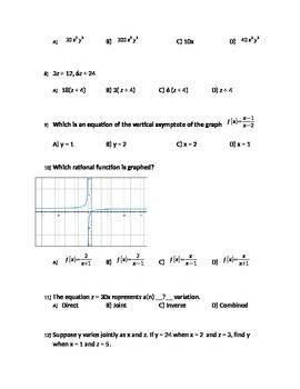 Rational expression and equations