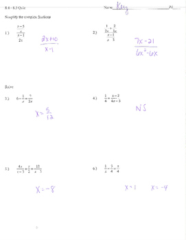 Rational expressions equations simplify complex fractions functions asymptote