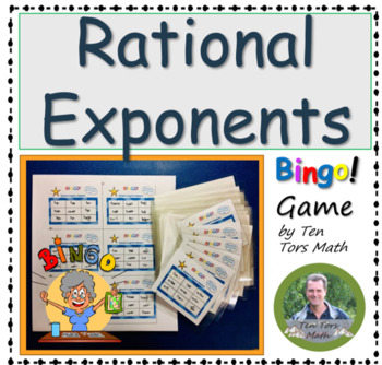 Rational (fractional) & Negative Exponents activity (FREE)