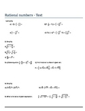 Rational numbers - Test