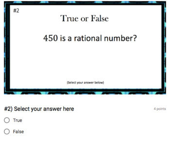 Rational or Irrational?  (Google Form, Interactive Video Lesson & Notes!)