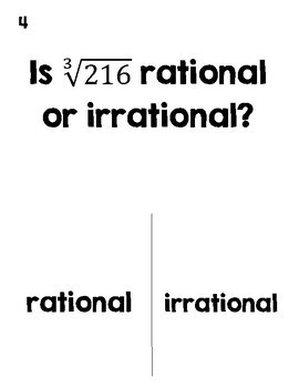 Rational or Irrational Numbers Halloween Activity (TRICK or TREAT)