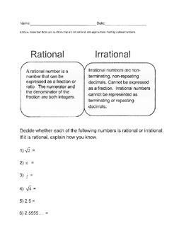 Rational vs Irrational