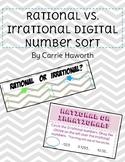 Rational vs. Irrational Digital Number Sort