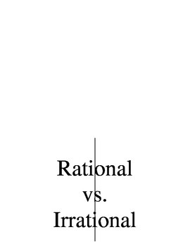 Rational vs Irrational Foldable