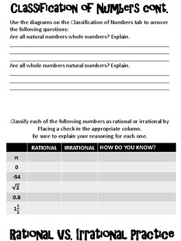 Rational vs. Irrational Foldable