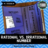 Rational vs Irrational Number Interactive Notes Activity