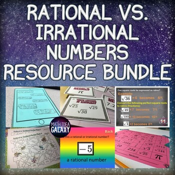 Rational vs. Irrational Lesson, Games, and Activities Pack