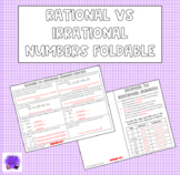 Rational vs. Irrational Numbers Foldable
