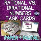 Rational vs. Irrational Numbers Mini Task Card Set