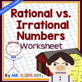 Rational and Irrational Numbers Categorizing Worksheet