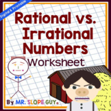 Rational vs. Irrational Numbers PDF Worksheet Common Core