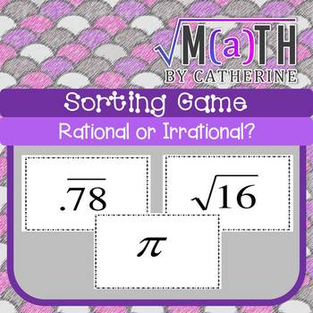 Rational vs. Irrational Sorting Numbers Game