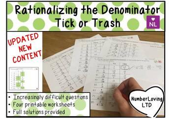 Rationalizing the Denominator (Tick or Trash)