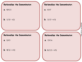 Rationalize the Denominator