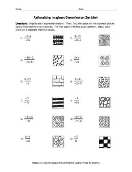 Rationalizing Imaginary Denominators Zen Math