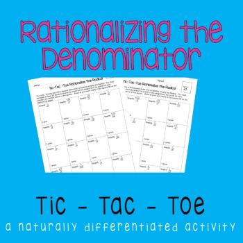 Rationalizing The Denominator {Tic-Tac-Toe}