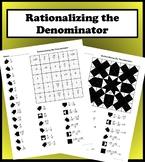 Rationalizing the Denominator Color Worksheet