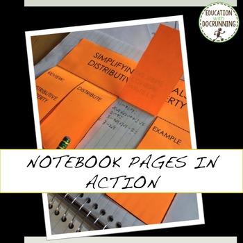 Rationalizing the Denominator Interactive Notebook Foldable