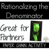 Rationalizing the Denominator Paper Chain Activity