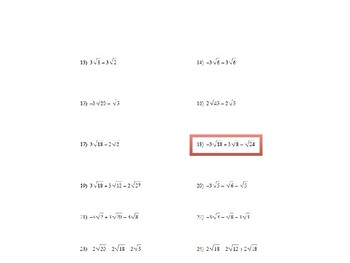 Rationalizing the Denominator and Square Root Arithmetic