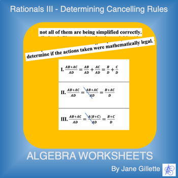 Rationals III - Determining Cancelling Rules