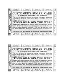 Rationing Cards