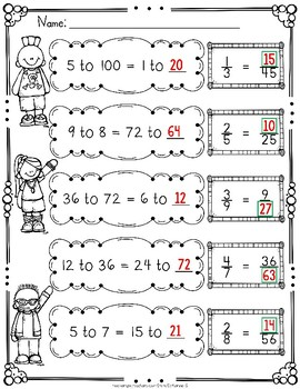 Ratios and Proportions Worksheets