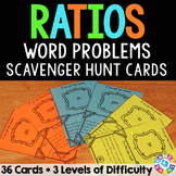 Ratios Activities: Ratios Word Problems Task Cards (6.RP.1 & 6.RP.3)