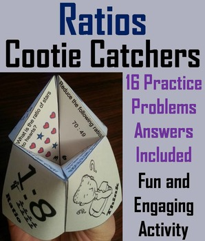 Ratios Practice Activity Game for 5th, 6th, 7th Grade