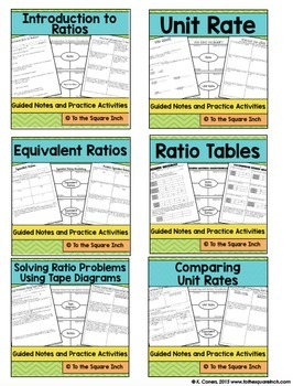 Ratios 6th Grade Math Guided Notes And Activities Tpt