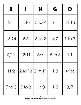 Ratios Bingo