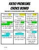 Ratios Choice Board