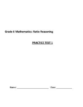 Ratios Common Core Math Practice Test