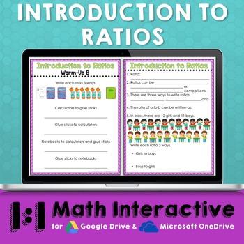 Ratios Digital Math Notes