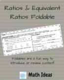 Ratios & Equivalent Ratios Foldable