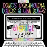 Ratios, Equivalent Ratios & Unit Rates Paper + Digital Bun