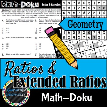 Ratios & Extended Ratios Math-Doku; Geometry, Sudoku, Similarity