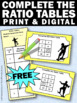 FREE Ratios Task Cards 6th 7th Grade Common Core Math Game