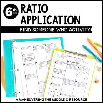 Ratios 6th Grade Find Someone Who