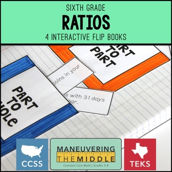 Ratios 6th Grade Flip Books Freebie